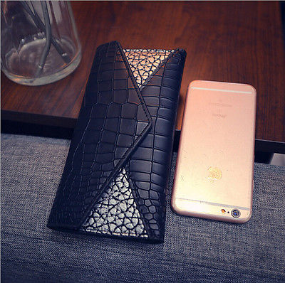 Fashion Lady Clutch Long Purse Hot Small Patchwork Handbag New Women Leather Wallet Cute Girl Alligator Card Holder  new arrive 1pc women lady faux leather clutch envelope wallet long card holder purse hollow hot