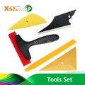 Useful 5 In 1 Car Window Film Tools Squeegee Scraper Set Kit Vinyl Film Wrap Tools Car Home Tint