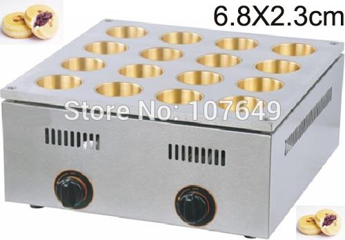 16pcs Commercial Use LPG Gas 6.8cm Red Bean Dorayaki Baker Machine Maker commercial use gas triangle wheat cake baker