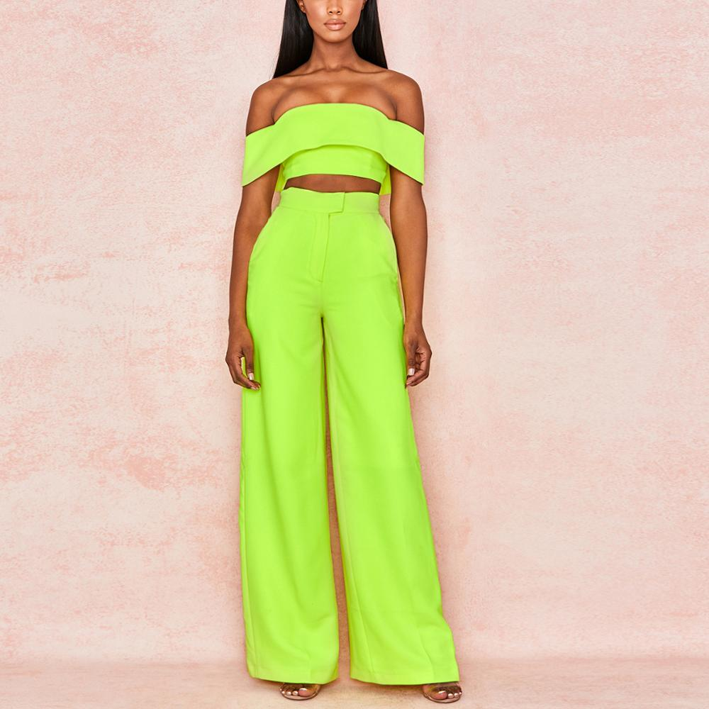 2019 Summer Women Suits Sets Ladies Clothing Evening Party Two Piece Set Celebrity Sleeveless Sexy Club