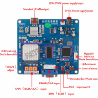 New Arrival CGA TO HDMI converter RGBS / CGA / EGA to HDMI converting Board PCB for HD LCD monitor arcade game cabinet machine