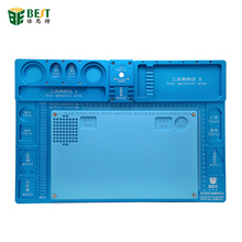 High Temperature Heat-resistant Heat Gun Aluminum Alloy Pad Repair Maintenance Platform Pad BGA Soldering Station Tools
