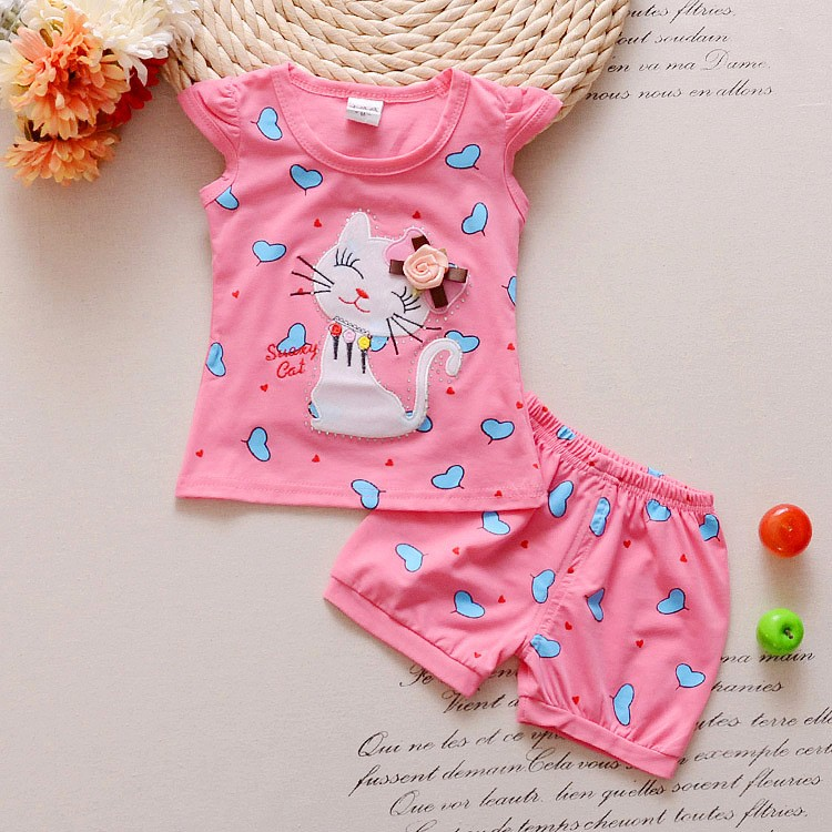 2016-Infant-clothes-toddler-children-summer-baby-girls-clothing-sets-cartoon-2pcs-cat-love-clothes-sets