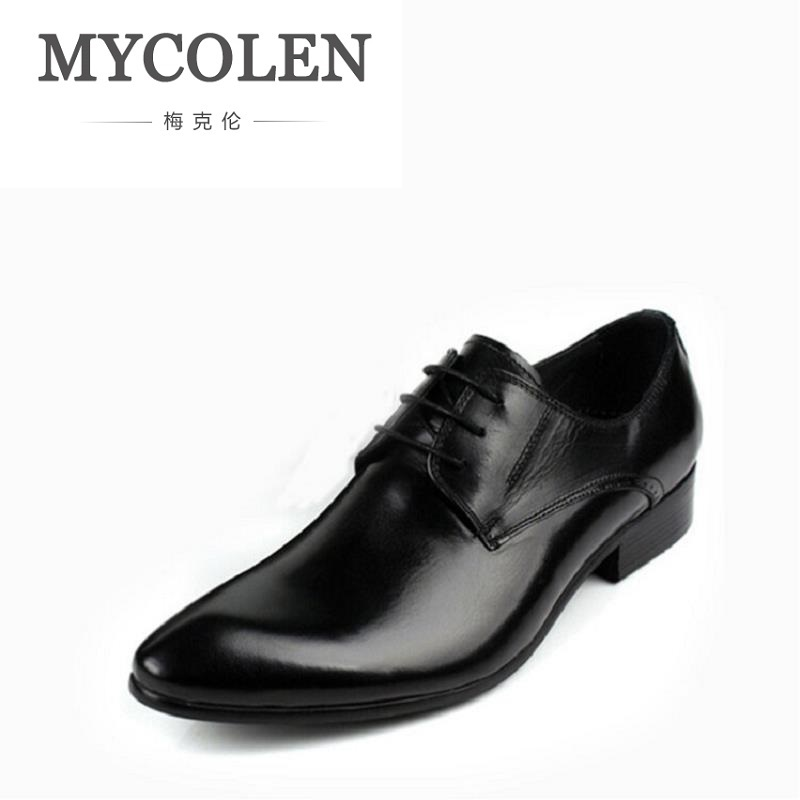 MYCOLEN Men Shoes Business Men Dress Shoes Lace Up Breathable Men Oxfords Cow Leather Wedding Autumn Zapatos De Hombre klywoo new white fasion shoes men casual shoes spring men driving shoes leather breathable comfortable lace up zapatos hombre