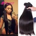 Brazilian Virgin Hair Straight 4 Bundles 8A Mink Brazilian Virgin Human Hair Bundles Annabelle hair Brazilian Hair Weave Bundles