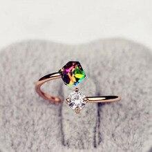 Joyería de moda anillo vintage Rosa anillo joya de oro para las mujeres regalo del Día de San Valentín bagues para mujer anillo de boda