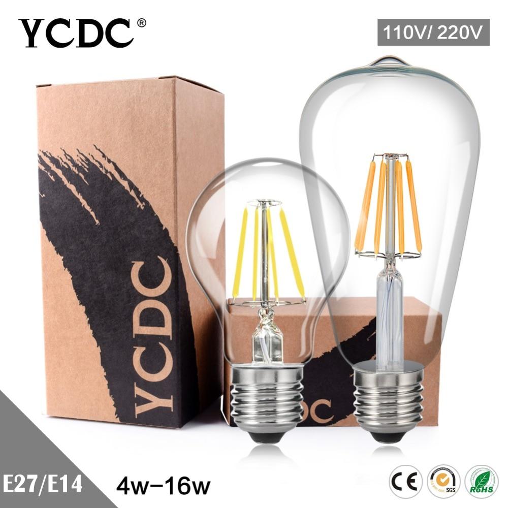 TSLLEEN Sapphire Chip Filament LED Bulb Edison Retro Candle Lamps E14 E12 E26 E27 360 Degree Chandelier Pendant Lighting 220V led bulb lamps e27 e26 e39 e40 5730smd