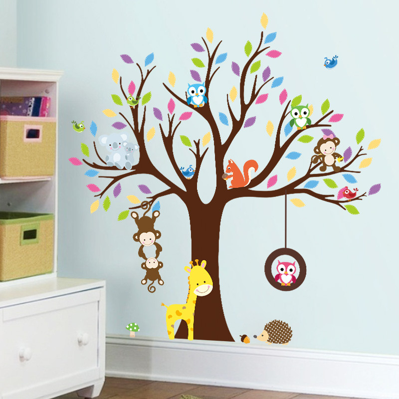 Animal Owl Tree 3D Wall Sticker Wallpaper Vintage Child Vinyl Home Decor  Bedroom Kids Rooms Decor. Online Get Cheap Owl Wallpaper  Aliexpress com   Alibaba Group
