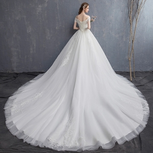 Image 2 - Mrs Win Applique Lace Vintage Wedding Dress 2020 New Off Shoulder Bride Dress Princess Dream Wedding Gown China Bridal Gowns