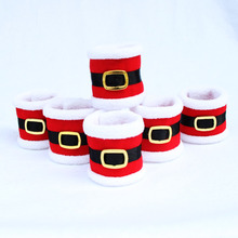 2017 2pcs/set Christmas Santa Towel Napkin Rings Serviette Holder Table Dinner Party Elegant Tableware Decoration for Home