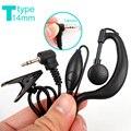 Ptt 2.5 mm 1 Pin gancho auricular T tipo auricular para Motorola Talkabout Portable Radio TLKR T4 T5 T6 T6200 T6220 T280 T5900 FR50