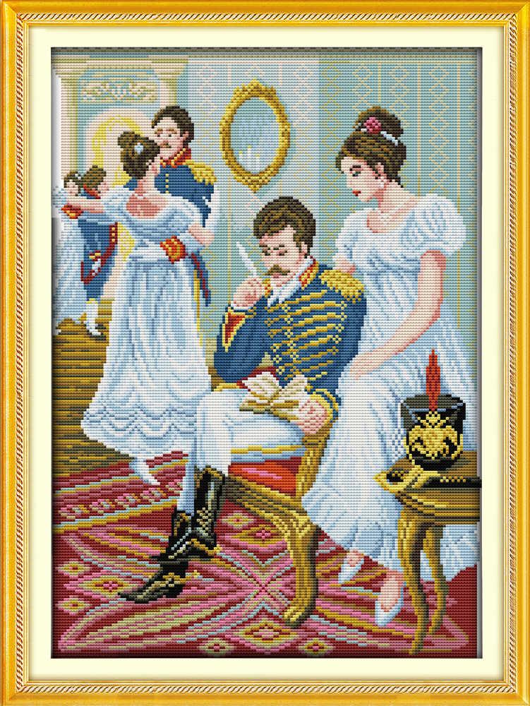 Танцевальные вечерние наборы для вышивки крестиком для красоты и людей с принтом 18ct 14ct 11ct ручная вышивка DIY рукоделие сумка