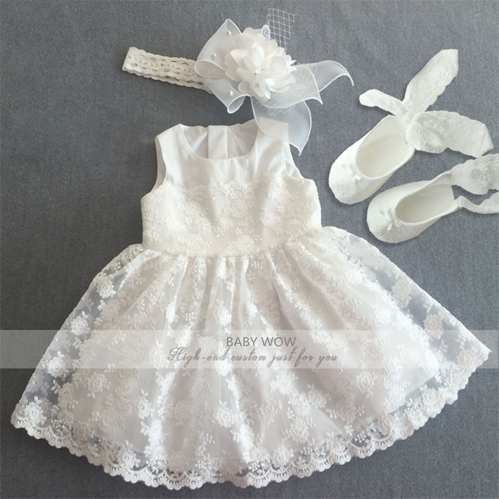 Baby Clothes Little Girls Dress Headdress font b Shoes b font Suits for Christmas Birthday font