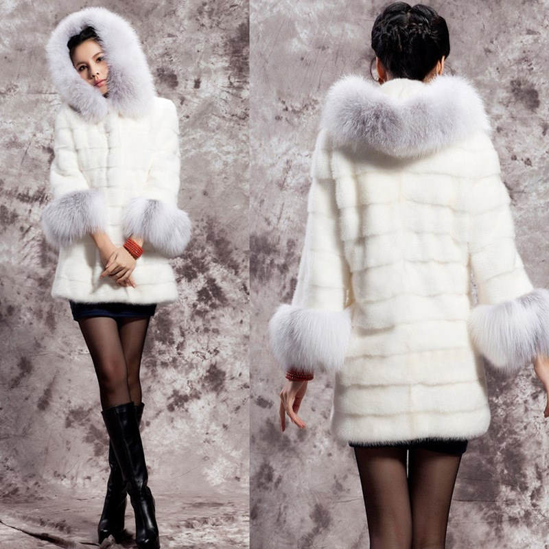5xl Fourrure Pull Taille Blanc Dessus Veste En Faux Manteau Grande Épaisse Chaude Hiver Pour À Fausse Femmes De Capuche Vêtements Pardessus Long Décontracté Renard zXqgwBH