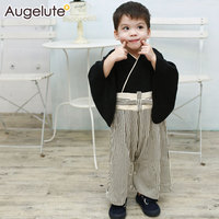 2016 Newborn Spring autumn baby rompers cute Japanese style long sleeve kimono baby jumpsuit baby boy clothes baby costume bebe