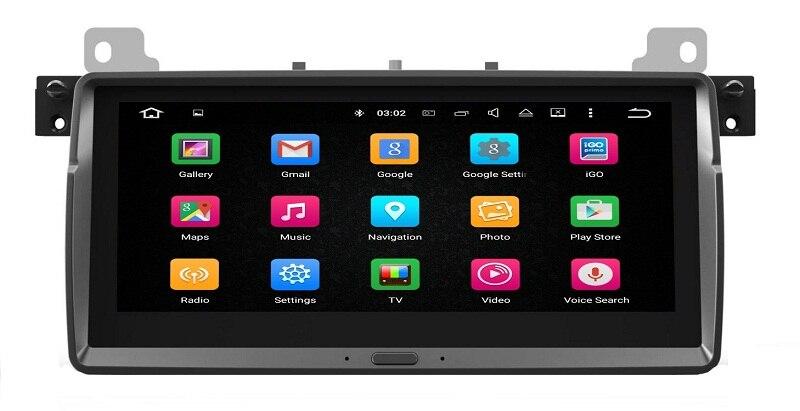 Ouchuangbo PX5 8.8 pouces écran tactile voiture audio gps radio pour M3 E46 prise en charge android 8.0 BT lien miroir USB 4 GB RAM 32 GB ROM