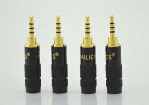 Image 1 - 2pcs Paliccs 2.5mm 4 pole stereo Male Repair headphone Jack Plug Metal Audio Soldering