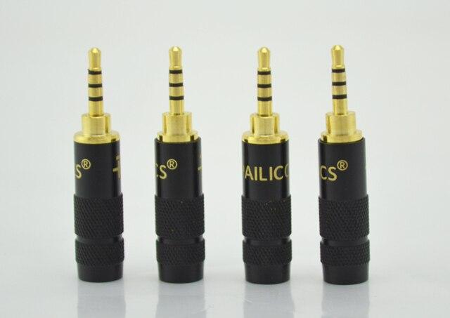 2pcs Paliccs 2.5mm 4 pole stereo Male Repair headphone Jack Plug Metal Audio Soldering