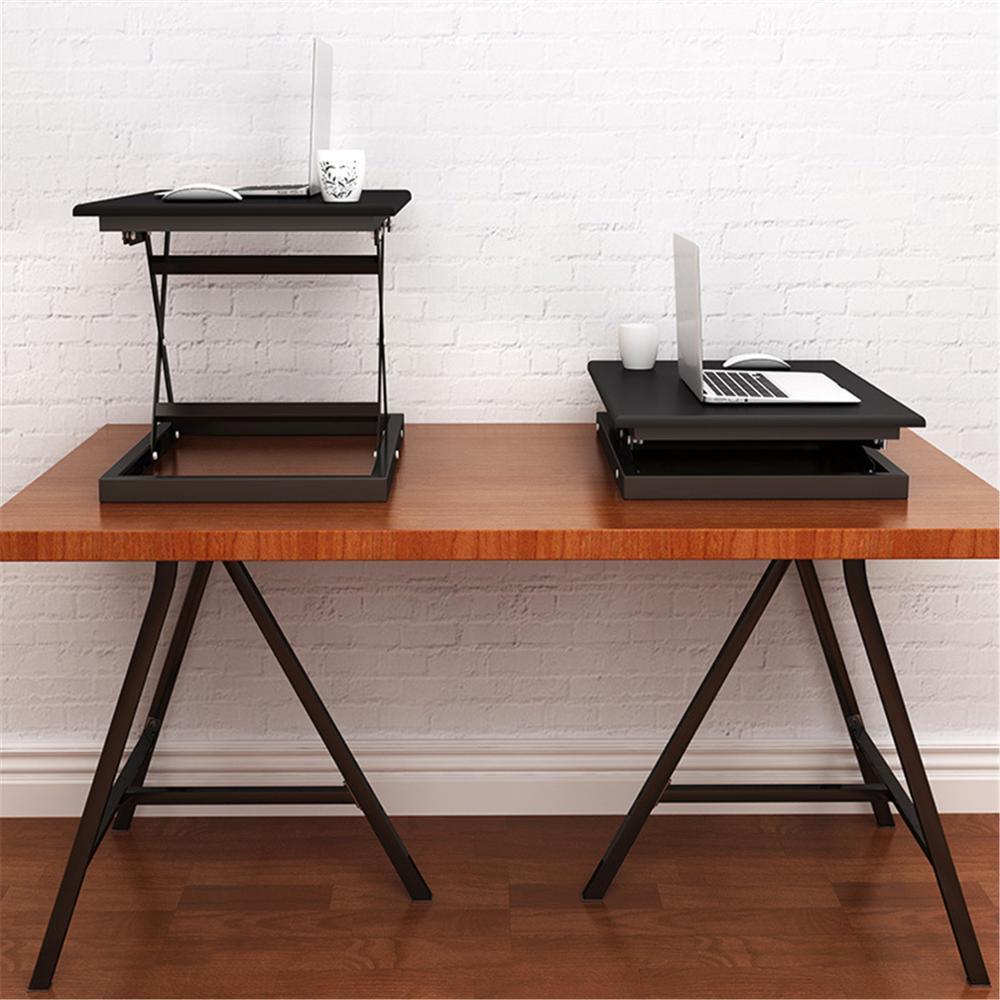 Регулируемая высота Кабриолет сидеть Встать Рабочий стол ноутбука, настольного компьютера стояк настольная рабочая станция - 2