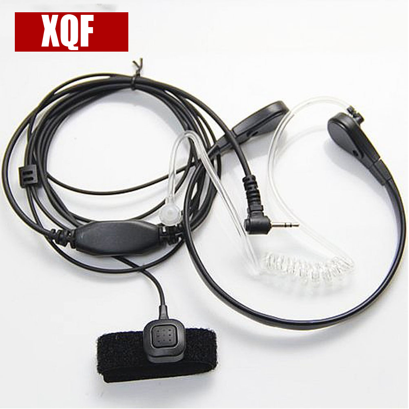 XQF Throat Mic Microphone Covert Acoustic Tube Bodyguard FBI Earpiece Headset With Finger PTT for Motorola Talkabout Radio