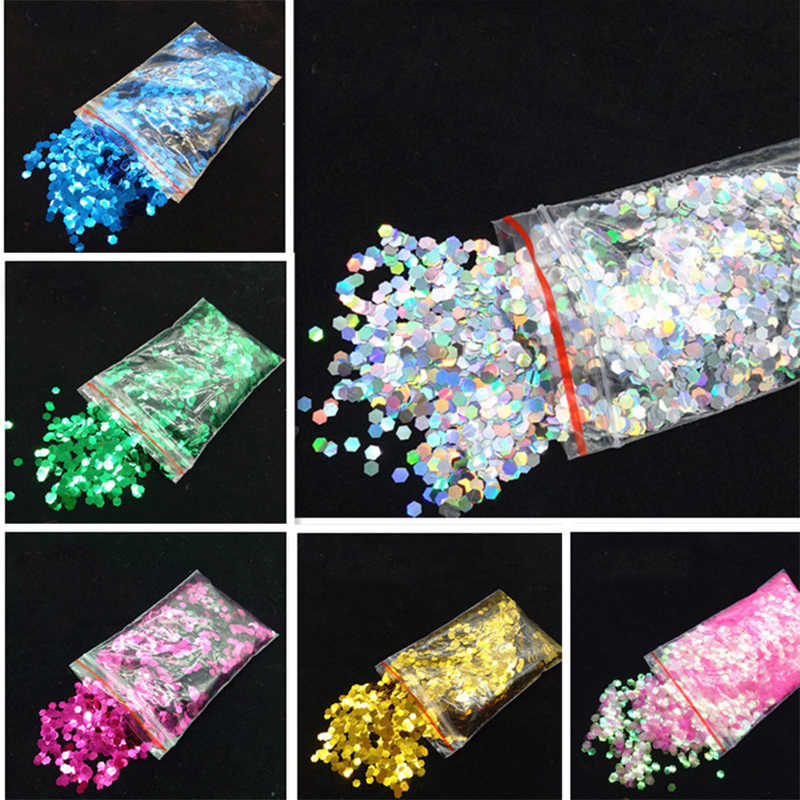 Bling Hexagon Sequins Slices Filler For Nails Art Tips Slime Glittering For Kids Lizun DIY slime Accessories Supplies Decoration