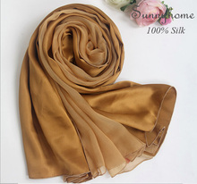 Oversized Shawls Fashionable 2016 100% Satin Silk Long Tartan Patchwork Head Wrap Scarf Luxry Gold Silk Scarves Pashminas