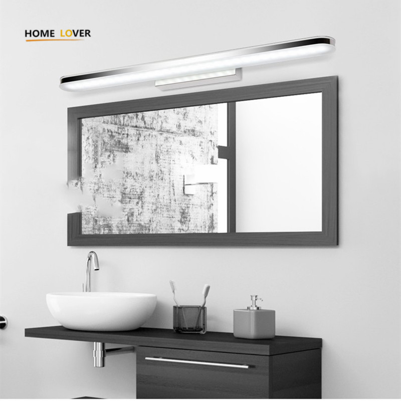 Modern Design bathroom Wall Lamps washing room mirror front lamp luminaria de parede stainless steel high quality light