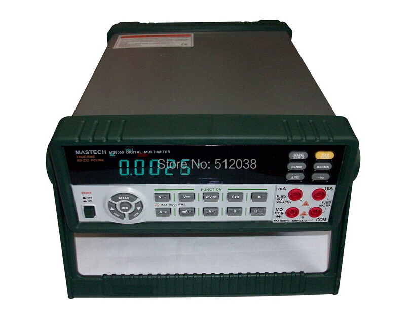 <font><b>MS8050</b></font> BENCH Digital Multimeter True RMS RS232C W/Software dBm Linear/Logic frequency Duty cycle ACV/ACV DC OHM Capacitance image