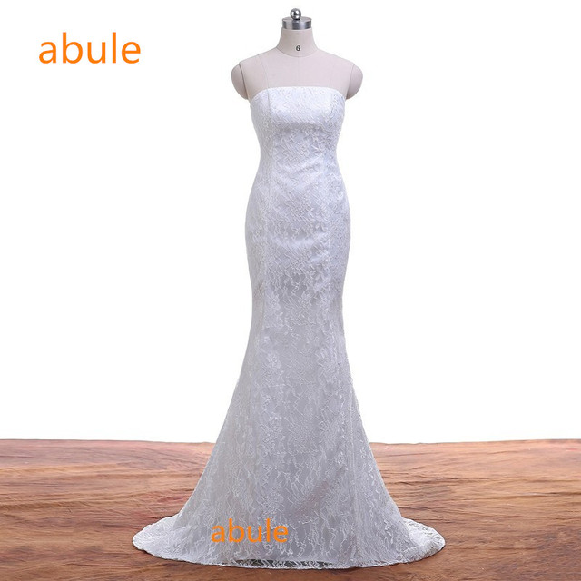 Mermaid Wedding Dresses summer Sexy Elegant beautiful lace up beach flowers vestidos de noiva wedding gowns real poto 100%