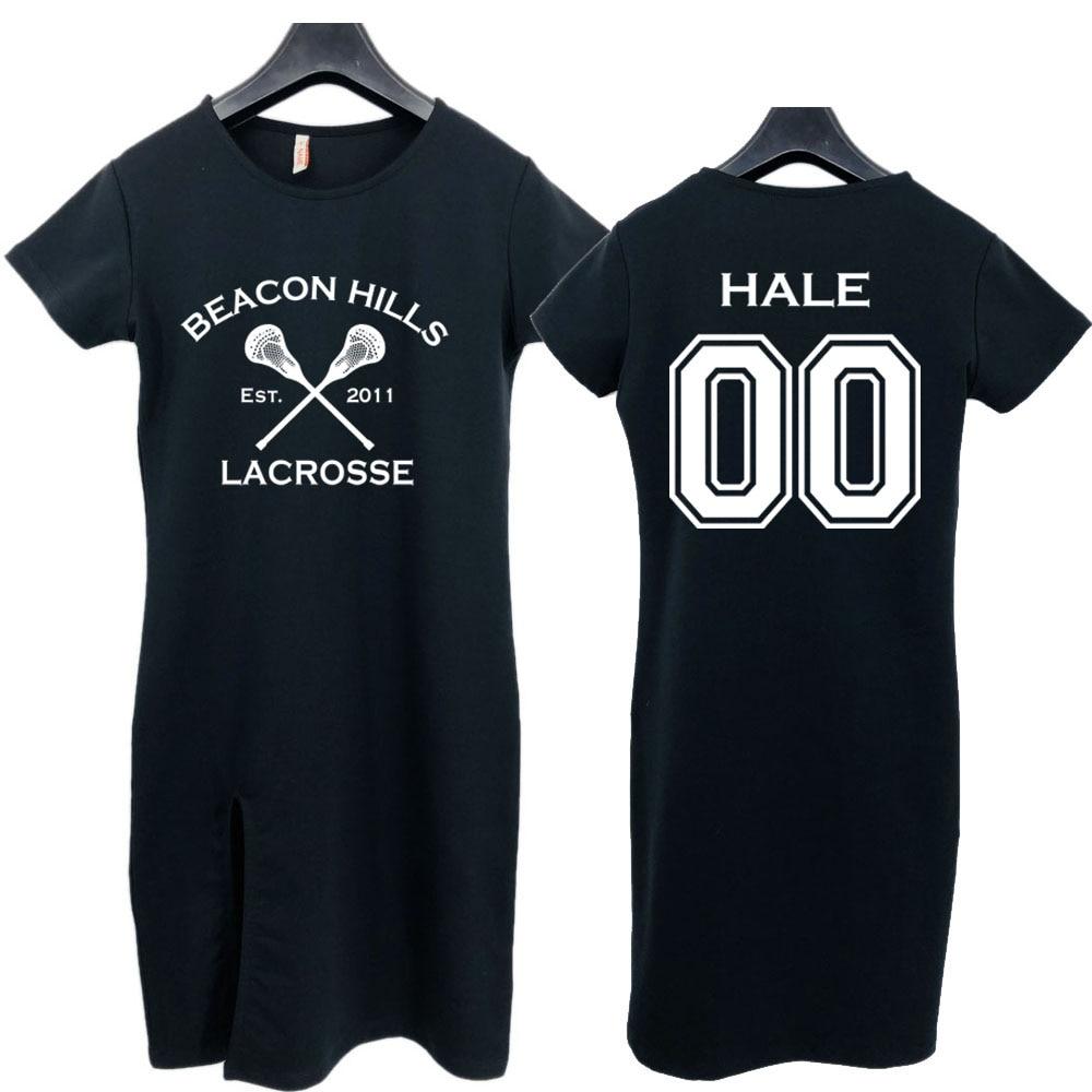 Teen Wolf Beacon Hills Lacrosse Womens Sexy Summer Style Long Dress Lahey 14 MCCALL 11 STILINSKI 24 Jersey Dress Skirt Tops