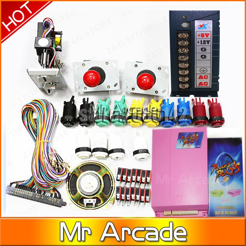 815in1 Pandora's box 4s plus Classic box 815 In 1 DIY Bundles With Jamma Harness Joystick coin operator  Push Button Machine arcade parts bundles kit with 60 in 1 pcb power supply joystick push button microswitch glass clips coin door jamma harness lock