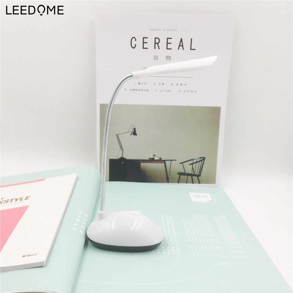 Leedome AAA Battery Powered Night Lights Luminaria LED Flexible Rotating Table Lamp For Children Eye Protection Reading Lights