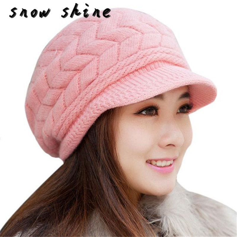 snowshine YLW Fashion Women Hat Winter   Skullies     Beanies   Knitted Hats Rabbit Fur Cap FREE SHIPPING