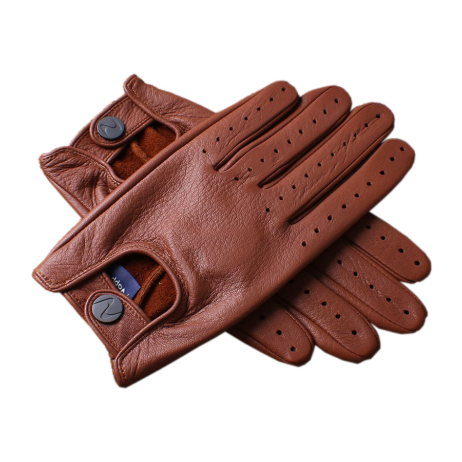Men S High Quality Real Leather Gloves All Seasons Buckskin Gloves Driving Street Dance DC021 5