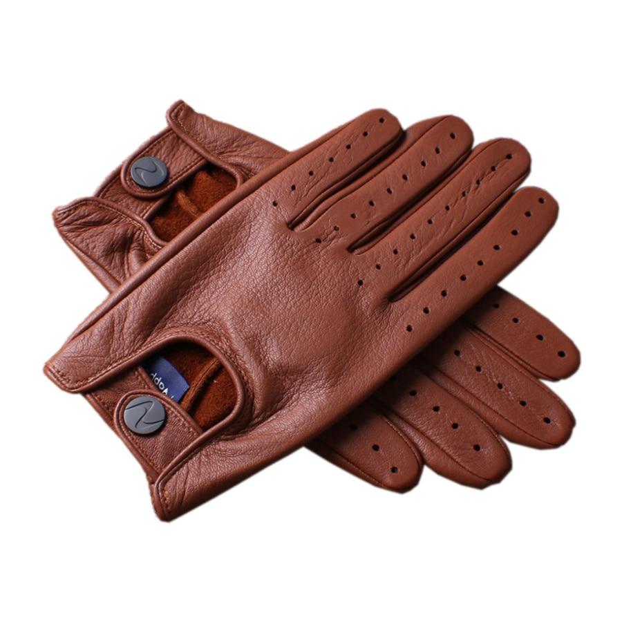 Gants en cuir véritable de haute qualité pour hommes toutes les saisons gants en peau de daim conduisant des DC021-5 de danse de rue