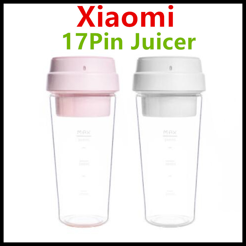 Xiaomi 17PIN Brand Star Firut Cup Portable Small Juicer Juice Extracter 400ML Fruit Cup Magnetic Charging