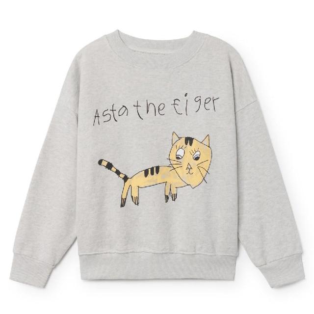 2019 New Spring Fall Bobo Choses Kid Clothes Cotton Cartoon colour Print Boy Baby Girl Clothes 1-10 Years Children's Clothes