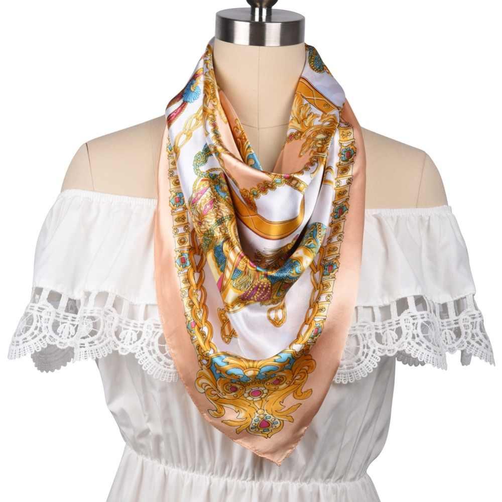 4d8421b707b6f ... Silk Women Fashion Shawl Large Blanket Scarves Foulard Femme Hot Large  Satin Square Silk Feeling Hair
