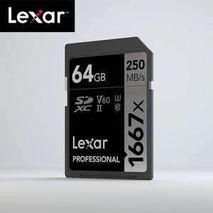 Image 2 - Original Lexar 1667x up to 250MB/s Flash Memory sd card 64GB 128GB V60 UHS II U3 Card high speed 256GB SDXC For 3D 4K HD video