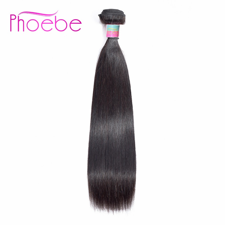 Phoebe Hair 1 Bundle Brazilian Hair Extension Straight Bundles Natural Color 8-26 Inch Non Remy 100% Human Hair For Black Women(China)