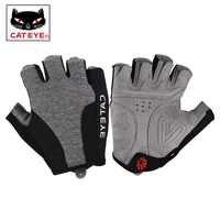 CATEYE-guantes de medio dedo para ciclismo para hombre y mujer, antideslizantes, transpirables, a prueba de golpes, deportivos, para bicicleta de montaña, 4 tamaños