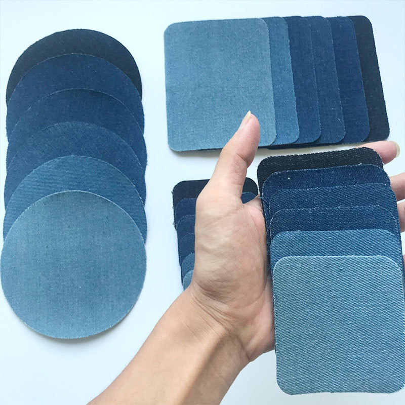 PGY 6pcs Sleeve Against Jeans Patch Iron On Patches Repair Elbow Knee Denim Patches For Clothes Denim Sticker Clothing Accessory