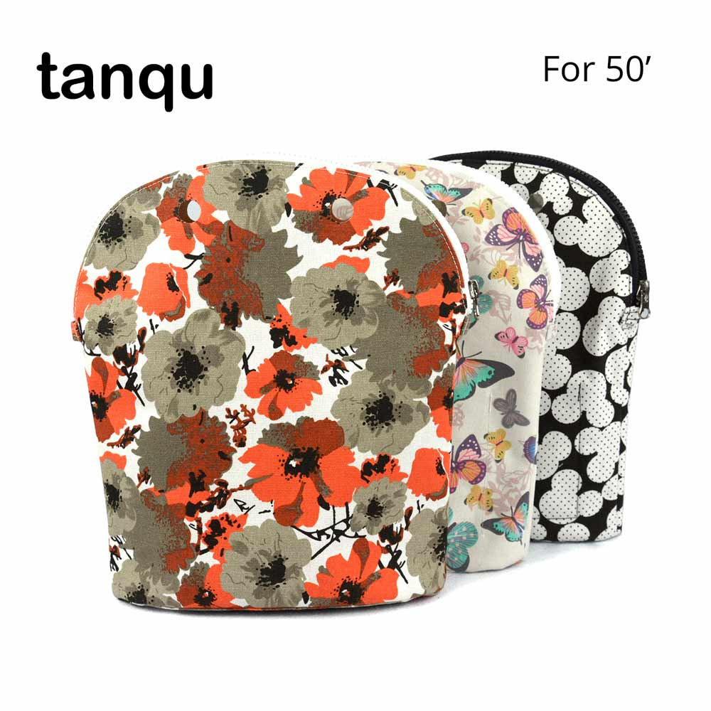 tanqu Colorful Pocket Zipper Inner Lining for Obag O 50' Super Advanced Insert with Inner Waterproof Coating for O 50 Bag tanqu tela insert lining for o chic ochic colorful canvas inner pocket waterproof inner pocket for obag