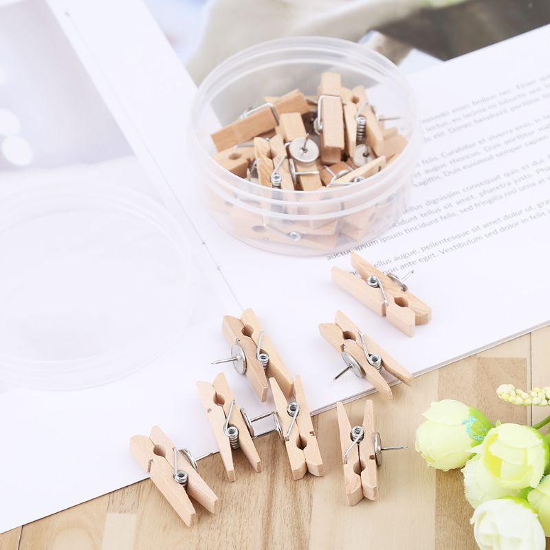 Wood Clothespins Wooden Laundry Clothes Pins Scrapbook Photo Paper Peg DIY Clip Craft Practical