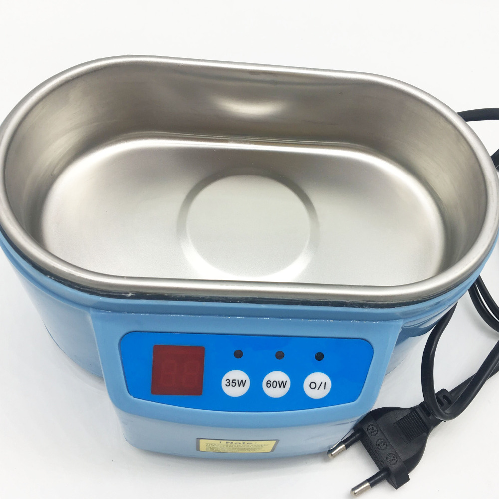 Image 2 - Hot 35W/60W 220V Mini Ultrasonic Cleaner Bath For Cleanning Jewelry Watch Glasses Circuit Board limpiador ultrasonico Bath EU-in Ultrasonic Cleaners from Home Appliances