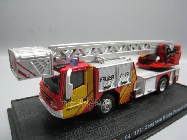AMER 1/72 Scale Car Model Toys Germany 2003 drehleiter DLK 23-12N.B.CS Fire Engine Diecast Metal Truck Model Toy For Collection