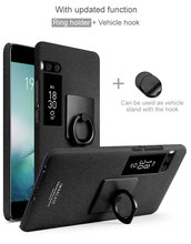 For MEIZU Pro 7 case ,iMak Cowboy Frosted Phone Cases For MEIZU Pro 7 Plus Case + iMak Screen Protector +Ring Holder