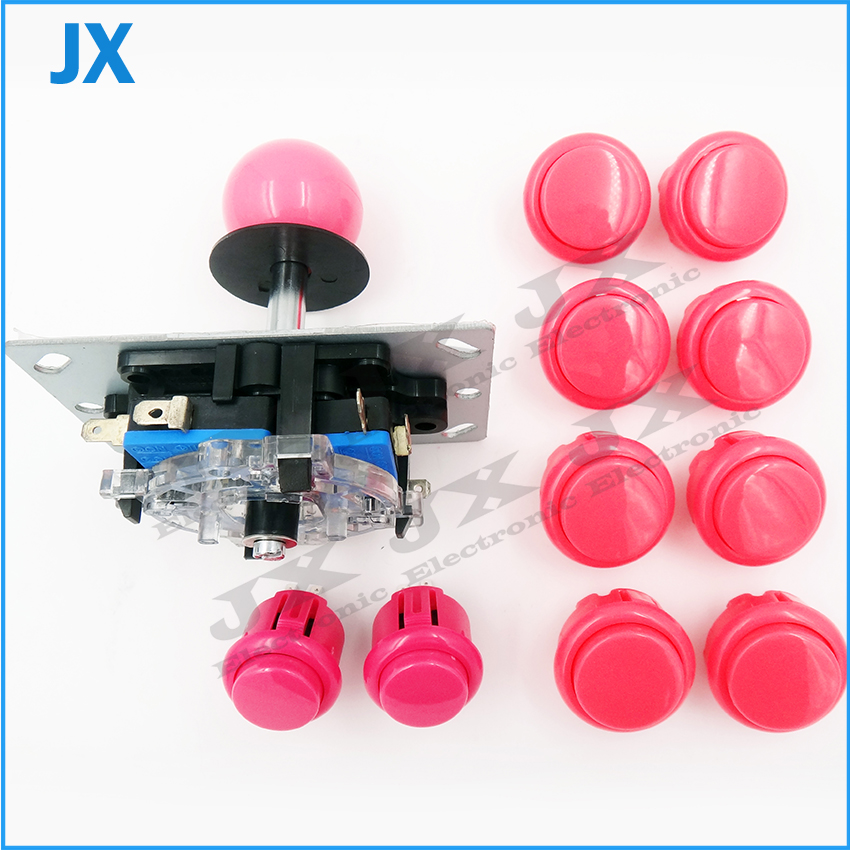 DIY arcade joystick 10 buttons all black for pc controller computer game Arcade Sticksss new for Consoles