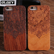 OLOEY Natural Wood Case Coque for iPhone 7 Plus 6 6S 5 5S SE 8 8Plus X XS Max Samsung Galaxy S8 Edge S9 Cover Fundas