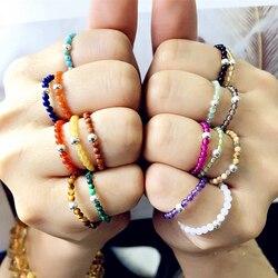 FFWFF El Yapımı Tasarım Doğal Taş Kristal Yüzük Kadınlar kızlar için opal aytaşı ruh dalga Enerji yüzük seti bague ringen